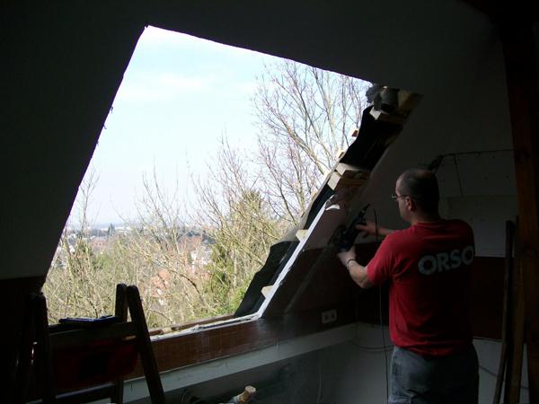 Einbau neuer Dachfenster