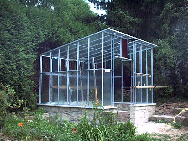Gartenhaus - Seitenansicht