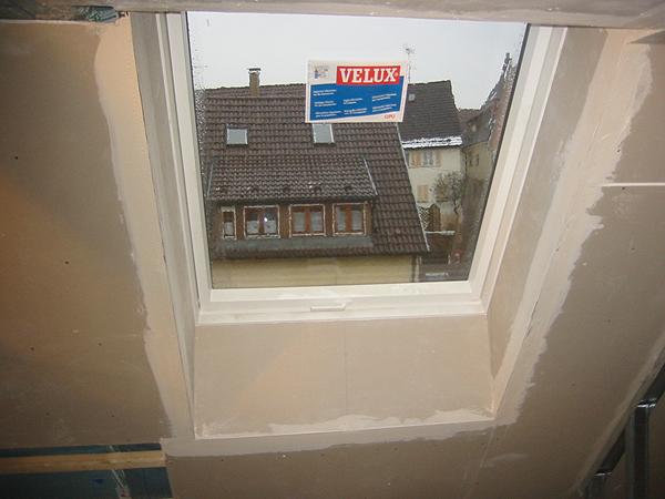 Neue Fenster in Dachwohnung