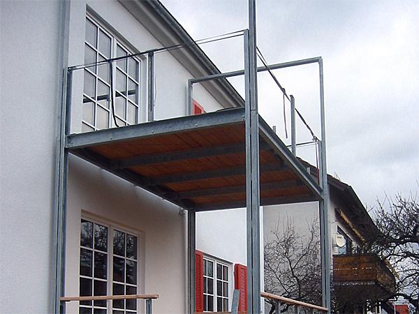 Bau des Balkons